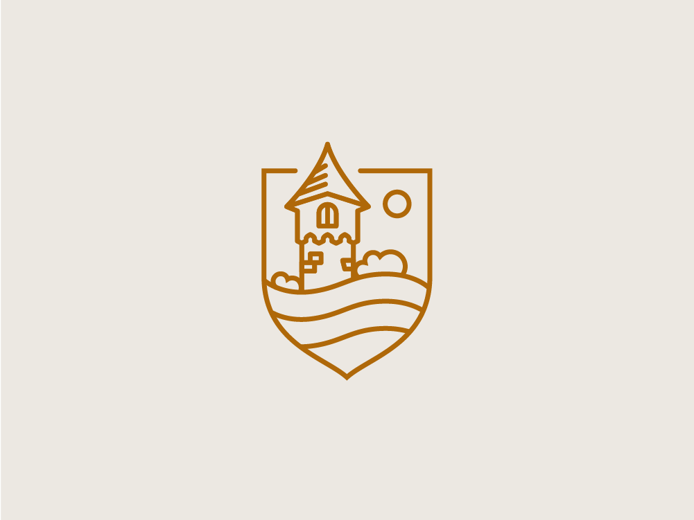 GoT Inspired Icon battle war sun tower got game of thrones water logo vector flat simple brick building medieval clean lines shield illustration icon castle