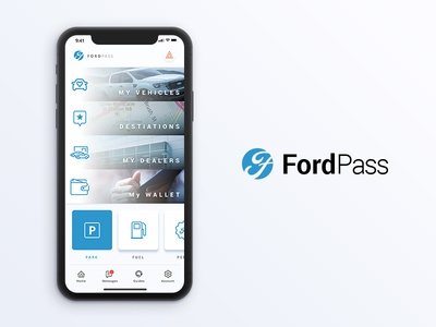 Fordpass App vehicles interface auto ux ui app car mobile redesign ford pass ford