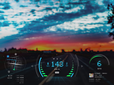 Daily UI - Car Interface augmented reality car daily ui car interface flat ui