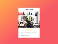 Coffee Shop Card