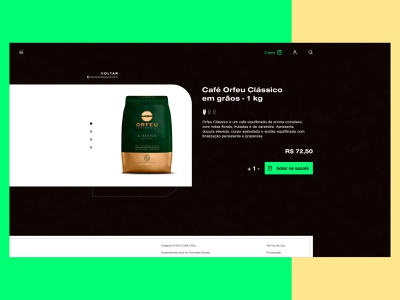 Coffee Page ui coffee product page page product