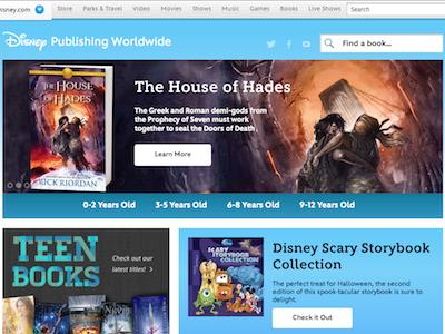 Disney Books Homepage disney homepage layout
