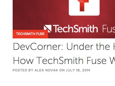 Techsmith Blog museo sans proxima nova tech blog blog
