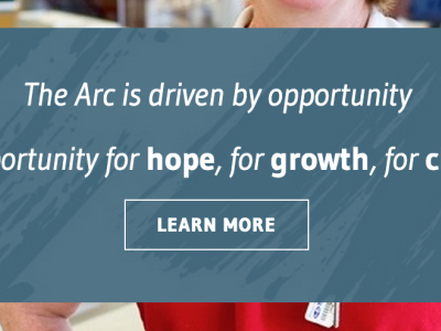The Arc Chapter Sites homepage design web
