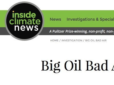 Inside Climate News web design full width article page