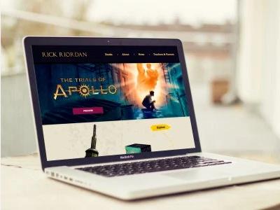 Rick Riordan development mobile design web design
