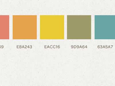 Travel Blog Color Palette color palette bright spring retro