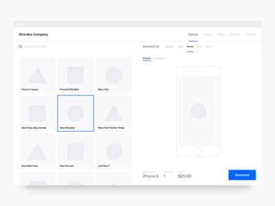 WIP — Product Page button flat website web clean typography minimal concept shop product