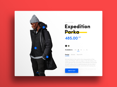 002 — Product Card apparel shop ecommerce modal card product daily ui daily100 ui minimal flat