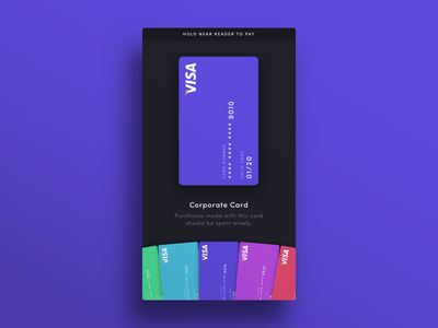 004 — Credit Cards wallet flat minimal visa pay credit card ui daily100 dailyui