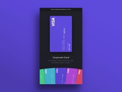 004 — Credit Cards wallet flat minimal visa pay credit card ui daily100 dailyui