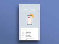 009 — Recipe app card recipe cocktail flat minimal ui 100daily dailyui