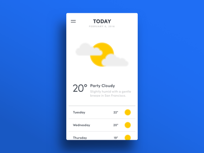 010 — Weather App humidity temperature sun weather app flat ui minimal dailyui daily100