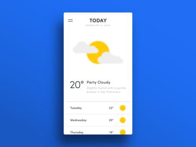 010 — Weather App humidity temperature sun weather app flat ui minimal dailyui daily100