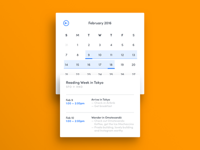 011 — Calendar Card flat ui reminder note event calendar card minimal 100daily dailyui