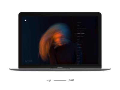 spgl.co — 2017 Home site nav navigation web design website ui typography portfolio flat minimal simple clean