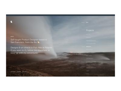 spgl.co — 2018 calendar moon website web design ui typography redesign project portfolio minimal flat clean