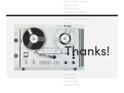 spgl.co — 2018 concept interface ux website web design ui typography project portfolio minimal flat clean