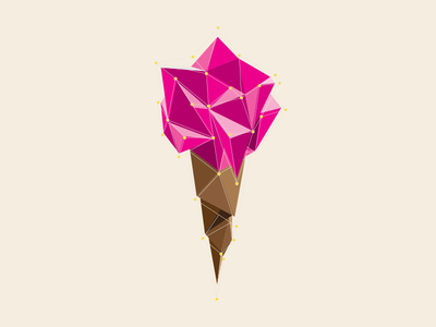Ice Cream illustration vector geometric debut ice cream