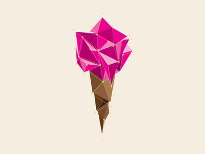 Ice Cream illustration vector geometric debut ice cream