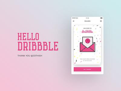 Hello Dribbble ! clean app debut dribbble user interface ux ui