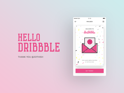 Hello Dribbble ! clean app debut dribbble user interface ux ui