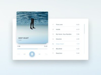 Daily UI #009 Music Player app user interface flat music player clean ui