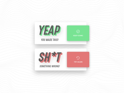 Daily UI #011 Flash Message clean daily ui flash message ui