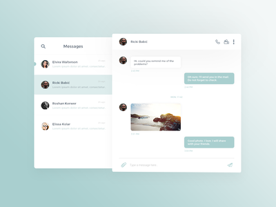 Daily UI #013 Direct Messaging interface ux messenger clean ui