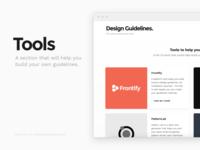 Tools now on DesignGuidelines!