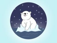 (20/100) Polar Bear Floating On