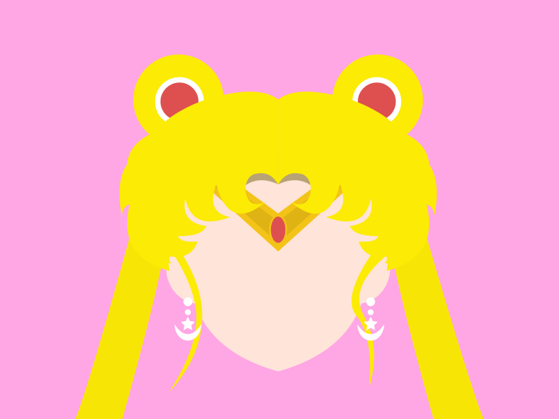 (44/100) Sailor Moon female character 90s manga art sailor scout moon pink girl hero sailor moon sailormoon anime flat vector minimal design illustration 100 day challenge