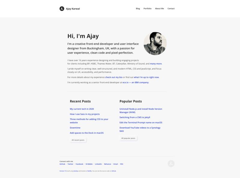 Personal Website v7