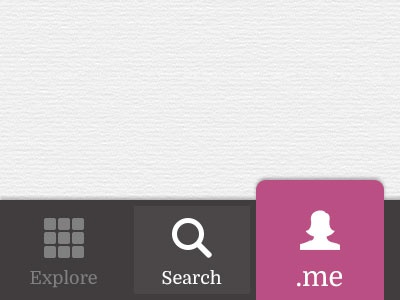 App Menu Bar Icons icons flat ui ios iphone search tabs navigation grey pink paper