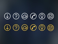 Thick line icons