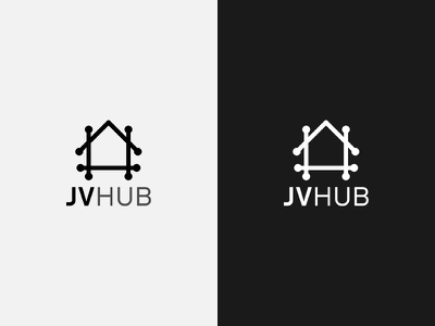 JV Hub lines dots house icon branding logo