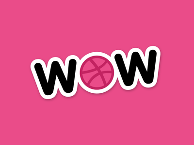 Dribbble is WOW pink wow sticker dribbble playoff