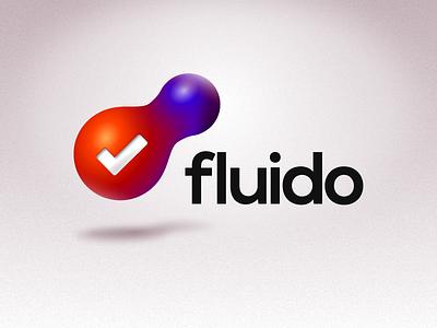 Fluido App Logo fireworks app bubble taskmanager todo logo branding brand icon design fluid