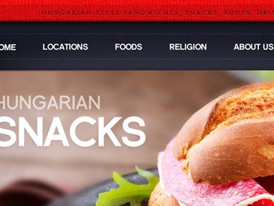 Sandwich Bar Website Teaser fireworks webdesign sandwich hungary design gastronomy food website web grid home