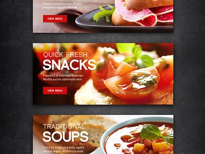 Sandwich Bar Website Slides webdesign design fireworks sandwich soup food gastronomy website