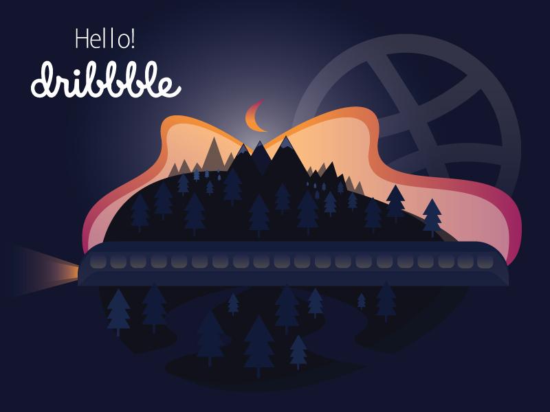 Hello Dribbble hello dribbble flat web design illustration vector