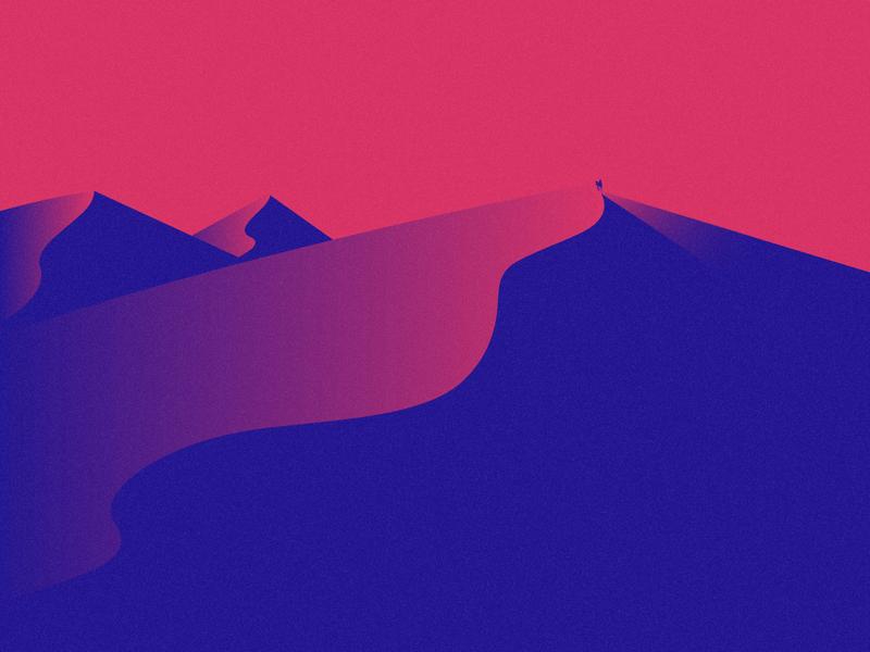 08-Desert camel rider camel minimalist simple colors illustrator minimal challenge illustration flat design