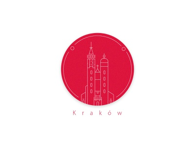 Krakow icon hello dribbble dribbleinvite simple poland krakow illustrator colors minimal challenge vector illustration flat design