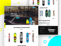 Skate board webpage concept
