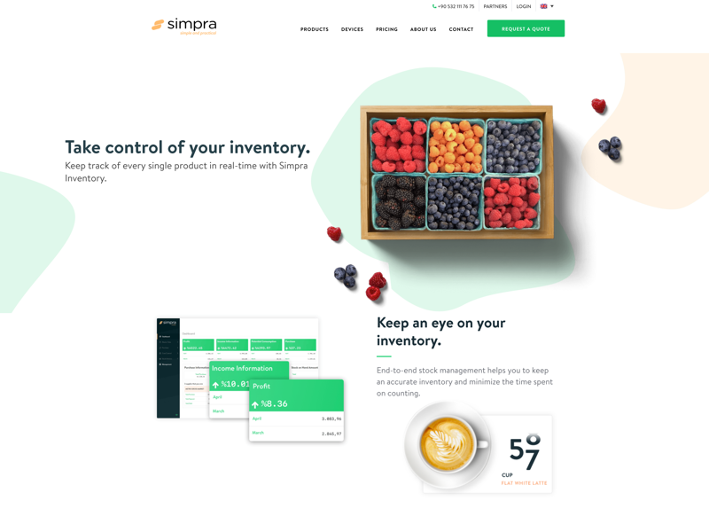 Simpra Suite Inventory Page inventory simple website web product design product clean ui