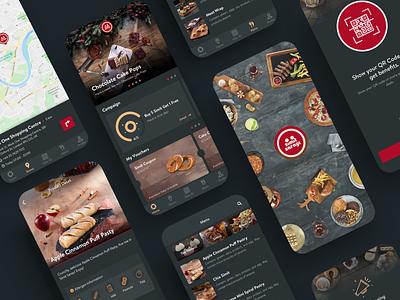 Simit Sarayi Mobile App fancy simple clean mobile design mobile app app mobile loyalty order bakery ui food app food design product design dark theme product dark