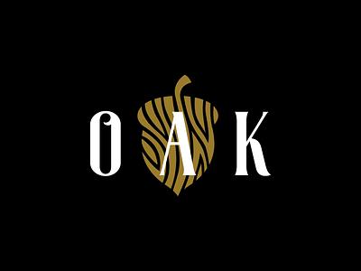 Oak Restaurant litvinenkostudio corporate style brand branding identity acorn aesthetics smart logo clean simple typography white black gold texture wood graphics design logo