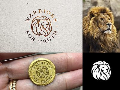 Warriors For Truth litvinenko studio jewellery coin gold warrior strength lion king lion head corporate style brand ifentity typography illustration graphicdesign logodesign