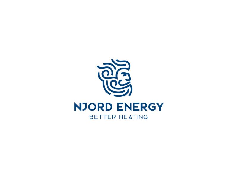 Njord logo concept wind cleverlogo outline litvinenkostudio minimal minimalism heat fire water power njord norse god beard man logodesigns mascot brandidentity graphicdesign logodesign