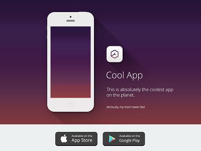 Cool App - Web Template iphone web simple gradient cool app template